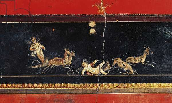 Frieze with cupids, House of Vettii, Pompeii (Unesco World Heritage List, 1997), Campania, Italy, Roman civilization, 1st century