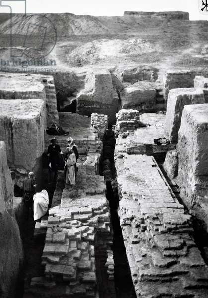 Babylon, trenches carrying water through walls, Iraq, 20th century