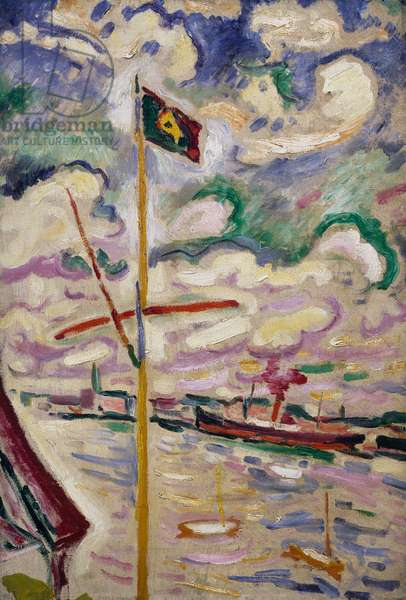 The port of Antwerp, the mast, 1906