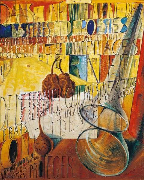 Dans une ville pleine de mysteres et de poesies, 1923-1924, by Max Ernst (1891-1976), oil on canvas. Germany, 20th century.