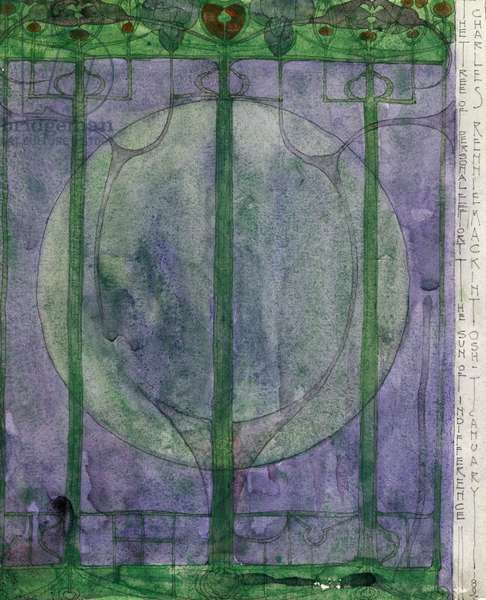 The Tree of Personal Effort, by Charles Rennie Mackintosh (1868-1928), pencil and watercolour on paper, 32x25 cm, 1895