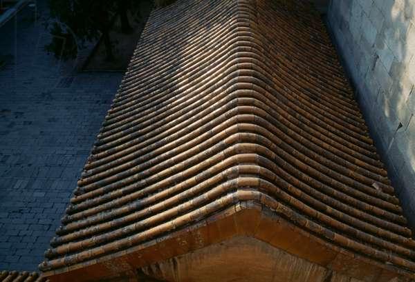 Roof of  pavilion of Summer palace (Unesco World Heritage List, 1998), Beijing, China, 19th century (photo)