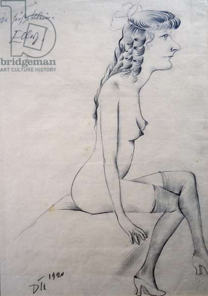 Sweet little Elly, 1920, by Otto Dix (1891-1969), drawing on paper. Germany, 20th century.