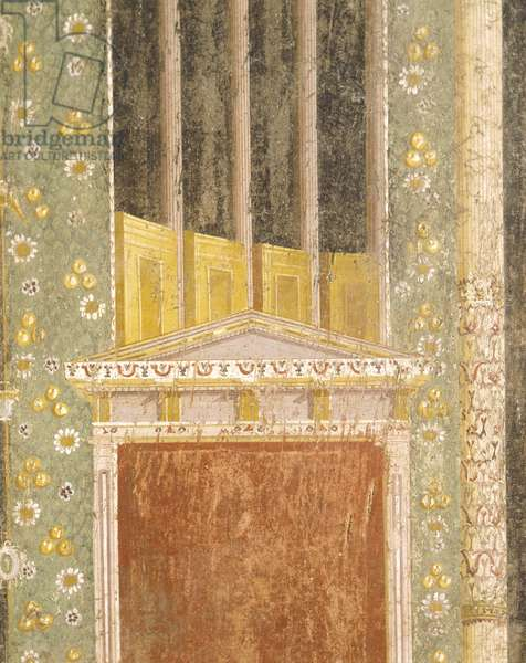 Fresco decoration from Hall of Tablino, House of Marcus Lucretius Fronto, Pompeii , Campania, Roman Civilization, 1st Century