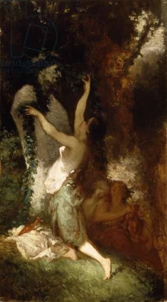 Offering to Pan (The Offrande a Pan), by Jean-Francois Millet (1814-1875).