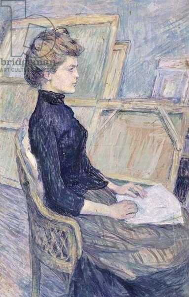 Model in study (Helene Vary), 1889, by Henri de Toulouse-Lautrec (1864-1901), 75x50 cm