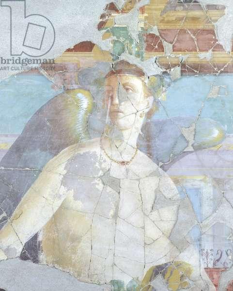 Winged woman, detail of fresco in House of Fabius Rufus, Pompeii , Campania, Roman Civilization, 1st Century