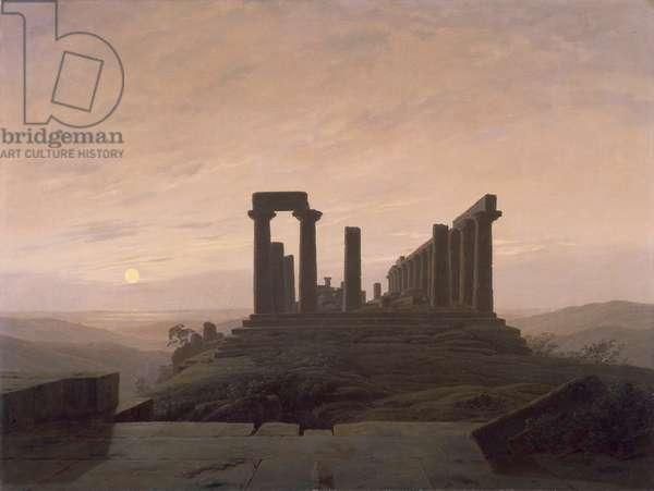The Temple of Juno in Agrigento, by Caspar David Friedrich (1774-1840).