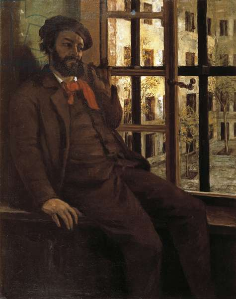Portrait of the artist in Sainte Pelagie, 1873-1874, by Gustave Courbet (1819-1877).