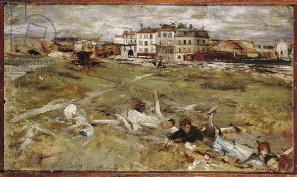 Italy, Paris Suburb (oil on canvas)