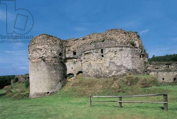 Castle on a landscape, Montcornet Castle, Champagne-Ardenne, France