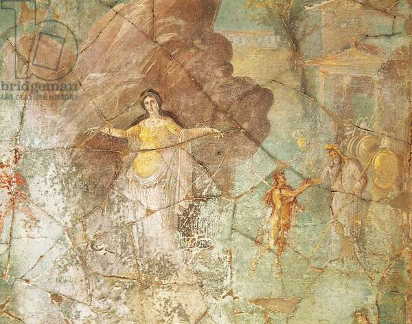 Perseus and Andromeda, fresco from House of Priest Amandus, Pompeii