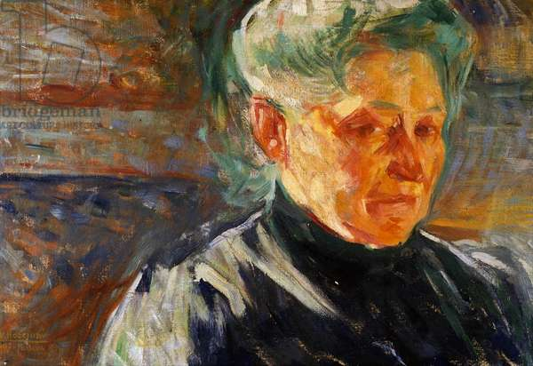 Portrait of Mother, 1907 (oil on paper mounted on canvas)