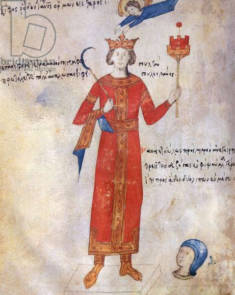 Suleiman the Magnificent, miniature from the Oracle of Leo the Wise, manuscript, Greece 16th Century