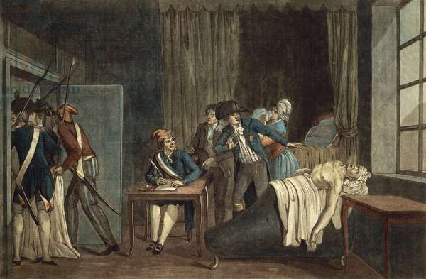Assassination of Jean-Paul Marat, 18th century