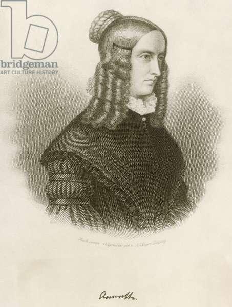 Portrait of Annette von Droste-Hulshoff (1797-1848), German writer and poet