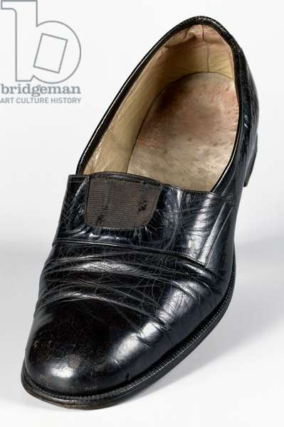 Shoe worn by Angelo Roncalli (1881-1863) during conclave where he was elected Pope with name John XXIII, 1958, Italy, 20th century
