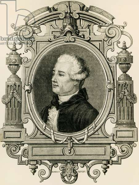 Portrait of Jacques Cazotte (1719-1792), French writer, guillotined during the Reign of Terror