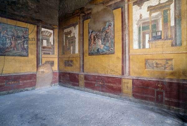 Frescoed room of Villa dei Vettii, Roman archaeological site of Pompeii (UNESCO World Heritage Site, 1997), Campania, Italy, 2nd-1st century BC