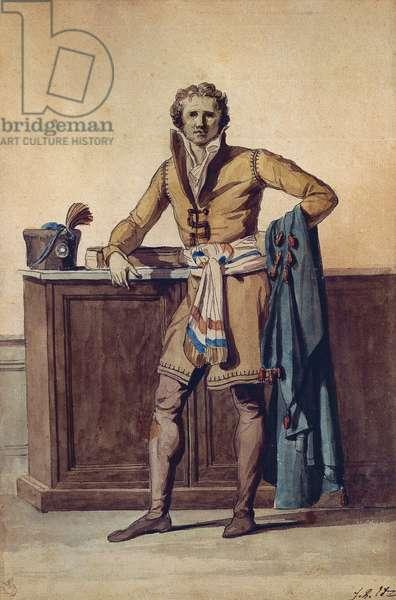 Inside Attire of French Citizen (watercolour)