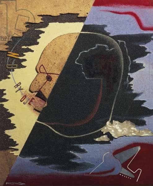 Parolibero (words in liberty) poet Filippo Tommaso Marinetti, 1929, by Enrico Prampolini (1894-1956), mixed media. Italy, 20th century.