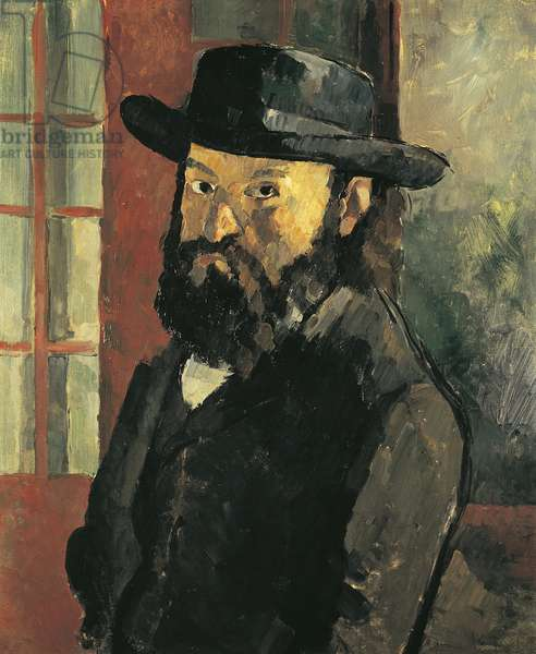 Self-Portrait with hat, 1879, by Paul Cezanne (1839-1906), 61x50 cm