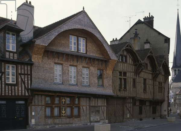 Traditional house in old part of Troyes, Champagne-Ardenne, France