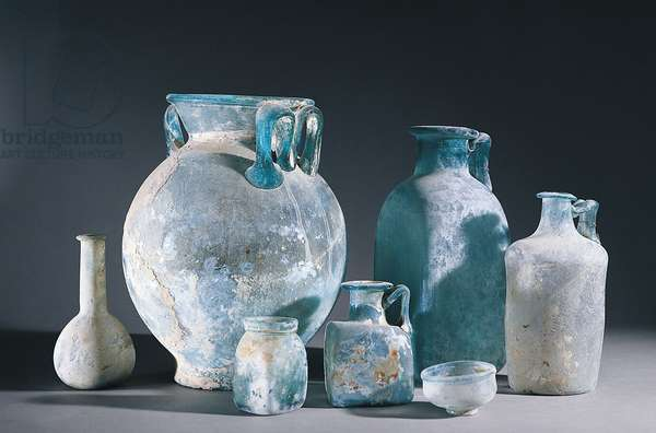 Italy, Campania, Pompeii, Glass vases