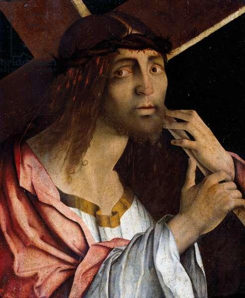 Christ Carrying the Cross, by Bernardino di Bosio Zaganelli (ca 1460-ca 1510), Italy, 16th century