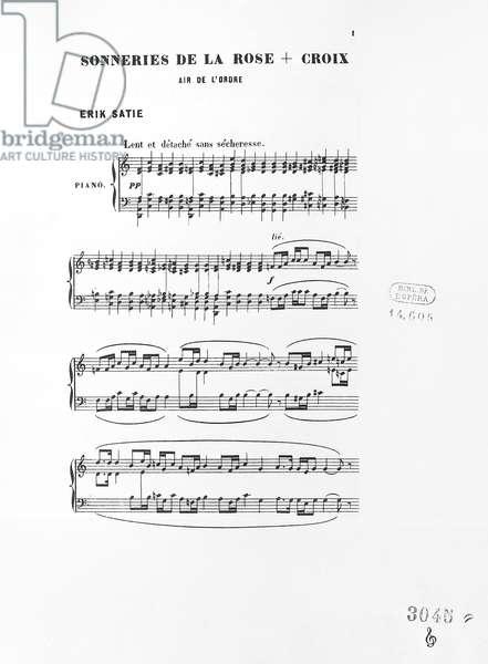 Score of Trois sonneries de la Rose Croix, by Erik Satie, 1892