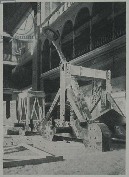 The mangle built by Gabriele D'Annunzio for the performance of Francesca da Rimini, 1901. 20th century