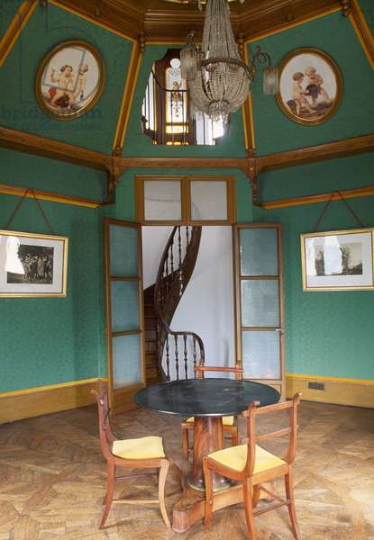 Interior of Chateau of Mareuil, 1771-1774, Mareuil-Sur-Ay, Champagne-Ardenne, France