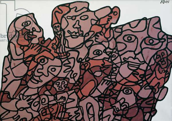 Effige incertaine XXVII-Z 128, 1975, by Jean Dubuffet (1901-1985). France, 20th century.