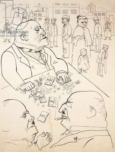 The thief, 1922, satirical drawing by George Grosz (1893-1959). Germany, 20th century.