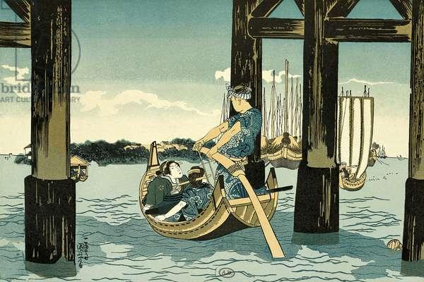 Boat trips, 1888-1889, by Utagawa Kuniyoshi (1798-1861), Japan, Japanese Civilization, 19th century