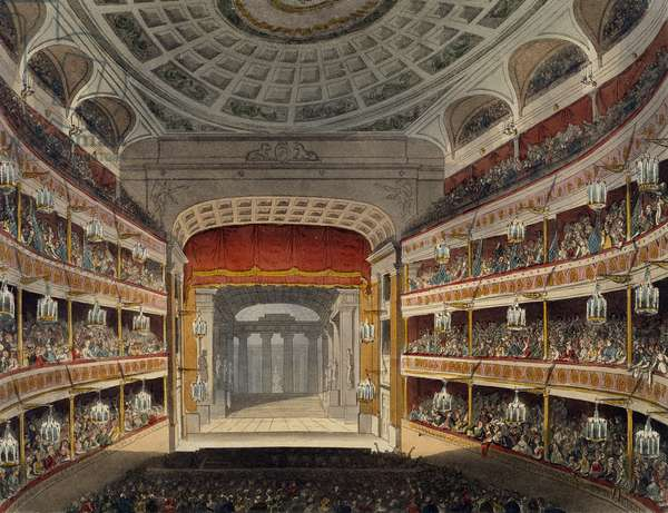 Concert at New Covent Garden Theatre in London, building commissioned by John Rich and opened in 1732, United Kingdom, 18th century