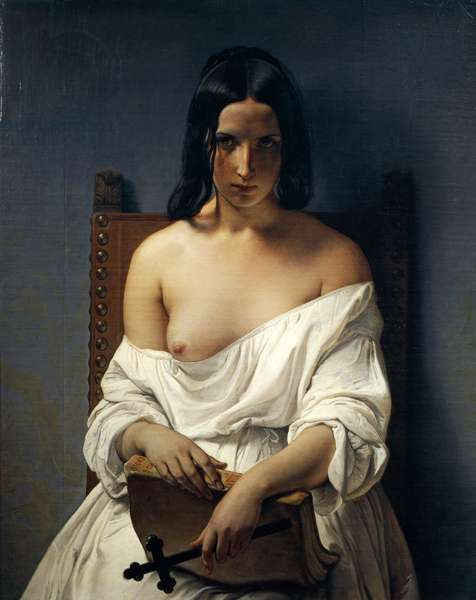 Meditation, Italy in 1848, 1851 (oil on canvas)