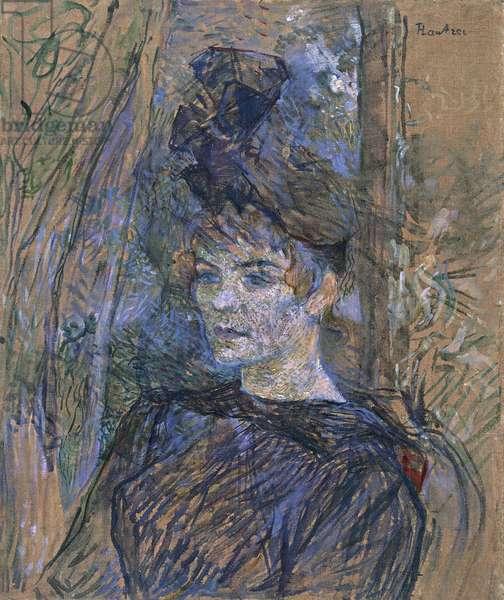 Portrait of Suzanne Valadon, 1886-1887, by Henri de Toulouse Lautrec (1864-1901).
