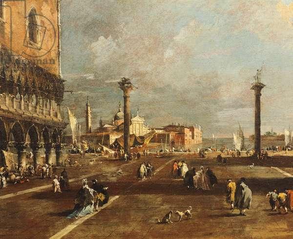 Piazza San Marco towards San Giorgio Maggiore, by Francesco Guardi (1712-1793), oil on canvas, 45x72 cm, 1775