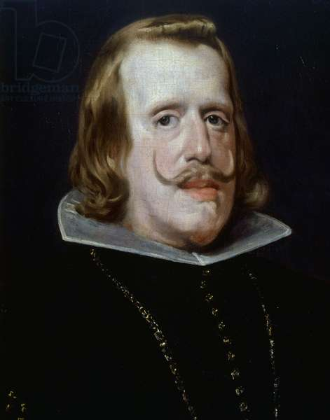 Philip IV of Habsburg (1605-1655), King of Spain, 1655, by Diego Velazquez, oil on canvas, 69x56 cm