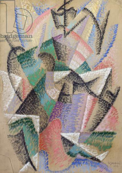Dancer among the tables, 1912, by Gino Severini (1883-1966), oil on canvas. Italy, 20th century.