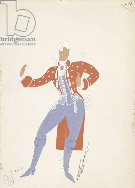 Costume sketch for Ferrando from 'Cosi Fan Tutte', Paris Opera Comique, March 21, 1952 (w/c on paper)