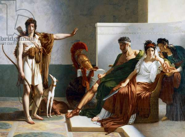 Hippolytus rejects Phaedra's accusations, Phaedra and Hippolytus, 1802, by Pierre Narcisse Guerin (1774-1833), oil on canvas