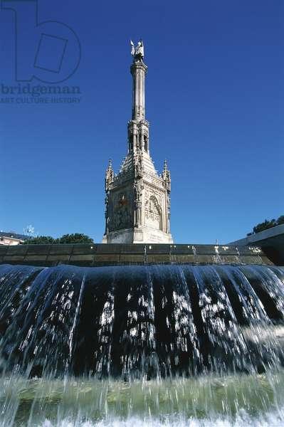 Monument to Christopher Columbus, Plaza de Colon, Madrid, 1885 (photo)