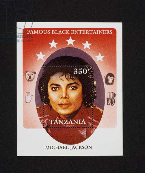 Postage stamp honoring Michael Jackson (1958-2009), 1990, Tanzania, 20th century