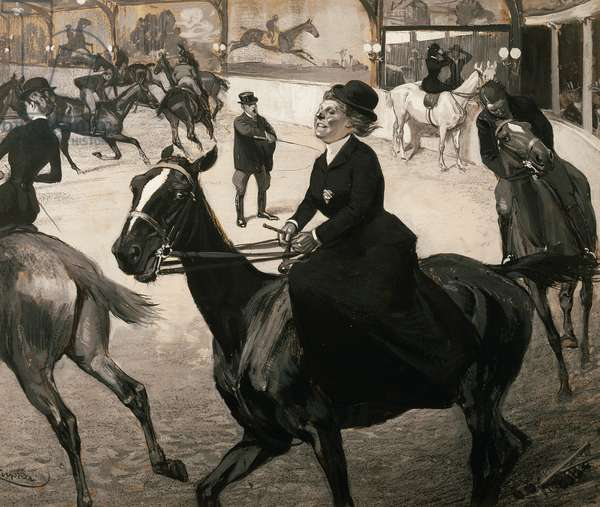 The riding school, 1894, by Frantisek Kupka (1871-1957). Czech Republic, 19th century.