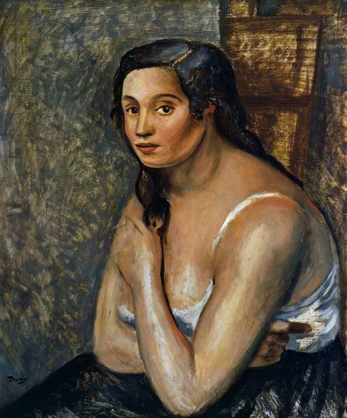Sitting woman, c.1920 (oil on canvas)