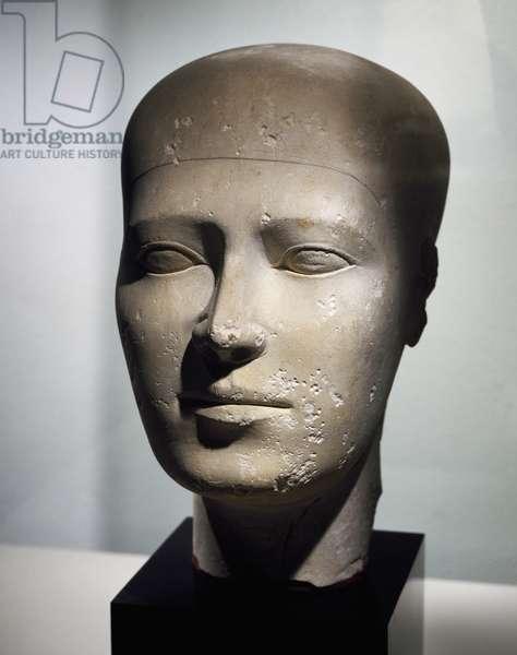 Reserve head, ca 2500 BC, limestone statue, height 27,7 cm, from Giza Necropolis, Egyptian civilization, Old Kingdom, Dynasty IV
