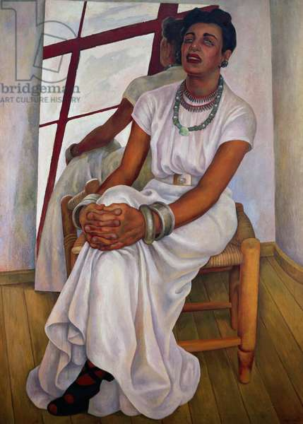 Portrait of Lupe Marin, 1938, by Diego Rivera (1886-1957), oil on canvas, 171x122. Mexico, 20th century.