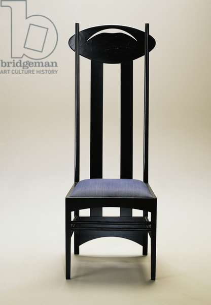 Argyle chair, 1903-1905, by Charles Rennie Mackintosh (1868-1928), black ash, produced by Cassina, United Kingdom, 20th century